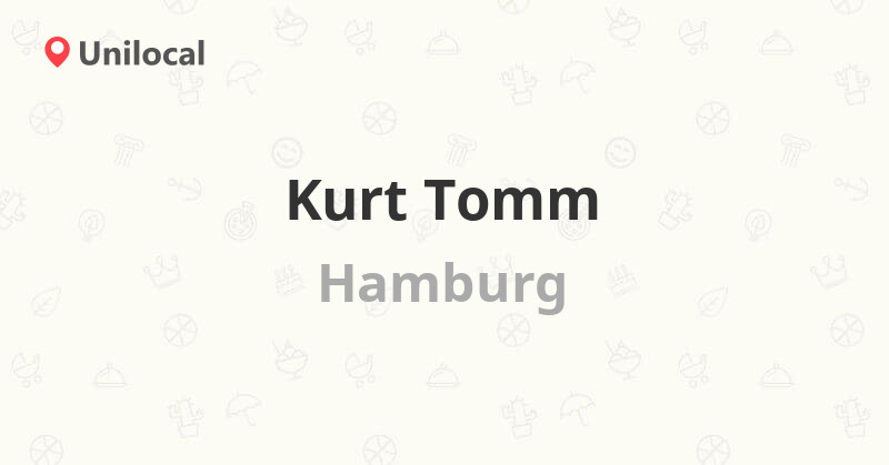 Kurt Tomm - Hamburg, Eppendorfer Weg 250 (Bewertungen