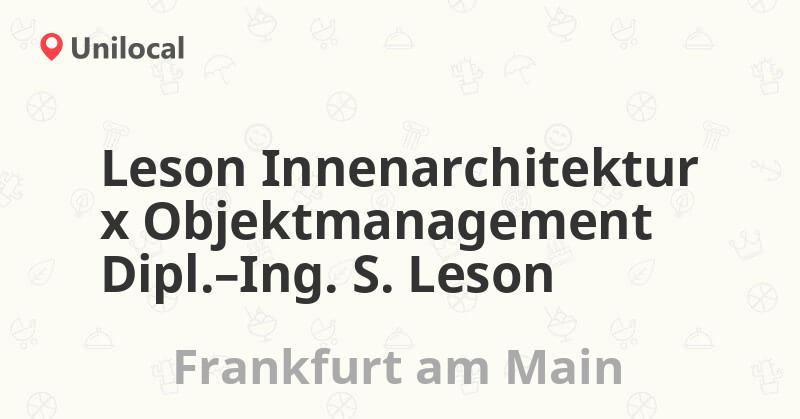 leson innenarchitektur x objektmanagement dipl.-… – frankfurt am, Innenarchitektur ideen